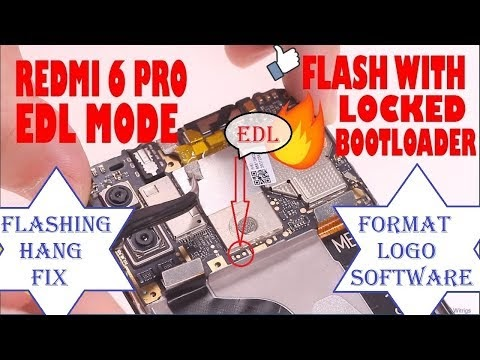 Mi Redmi 6 pro test points or Edl mode for flashing with locked bootloader