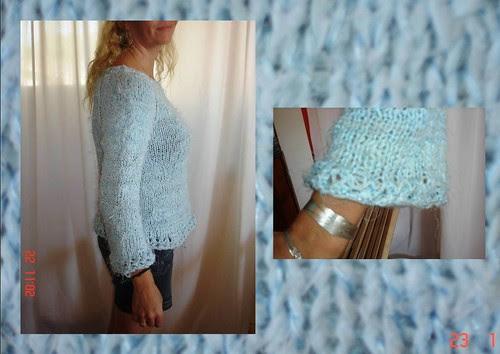 Detalhes do Blusão Fios de Lençol - Pullover of Sheets Details