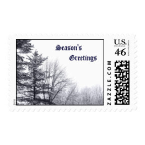 Snow-covered Trees: Horizontal Postage
