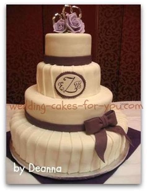 Pleated Cake With A Fondant Bow