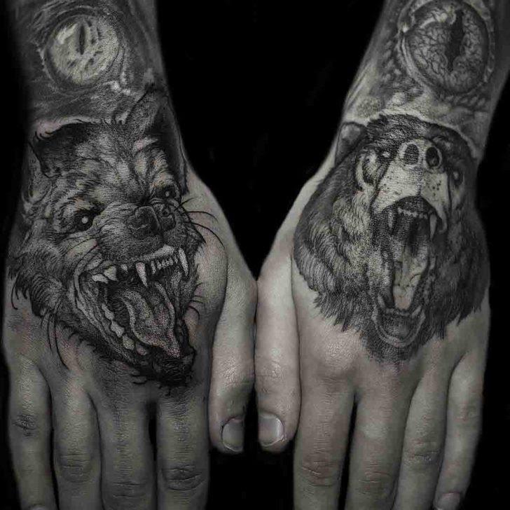Animal Hand Tattoos Best Tattoo Ideas Gallery