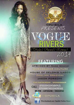 "9jasouth EVENTS:Opubila Int'l Presents ""Vogue Rivers"" & ""Bora Awards"""