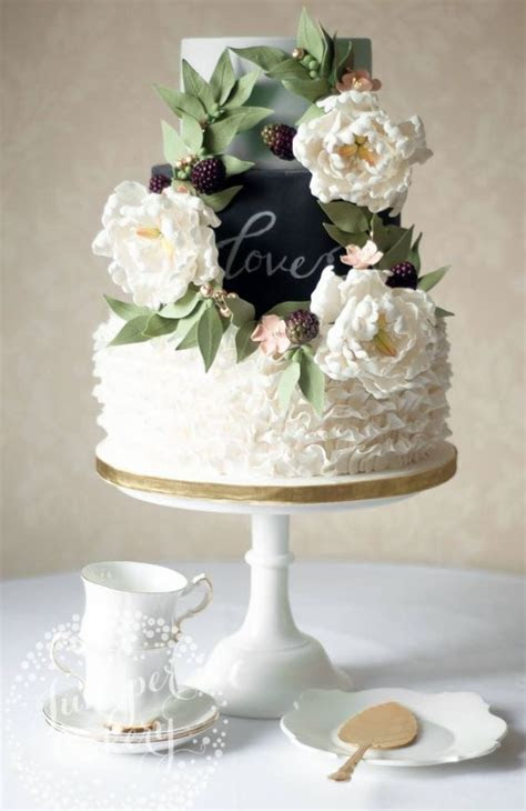 Unique Three Tier Rustic Wedding Cake   Wedding Cakes
