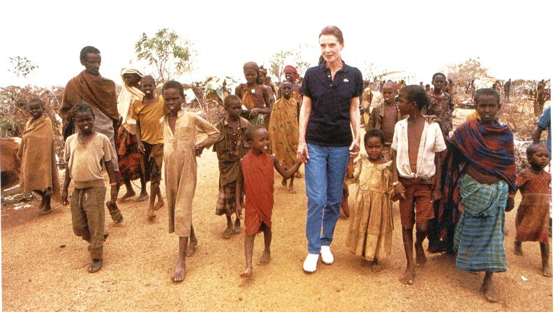 Angelina Jolie Unicef. Hepburn and Angelina Jolie