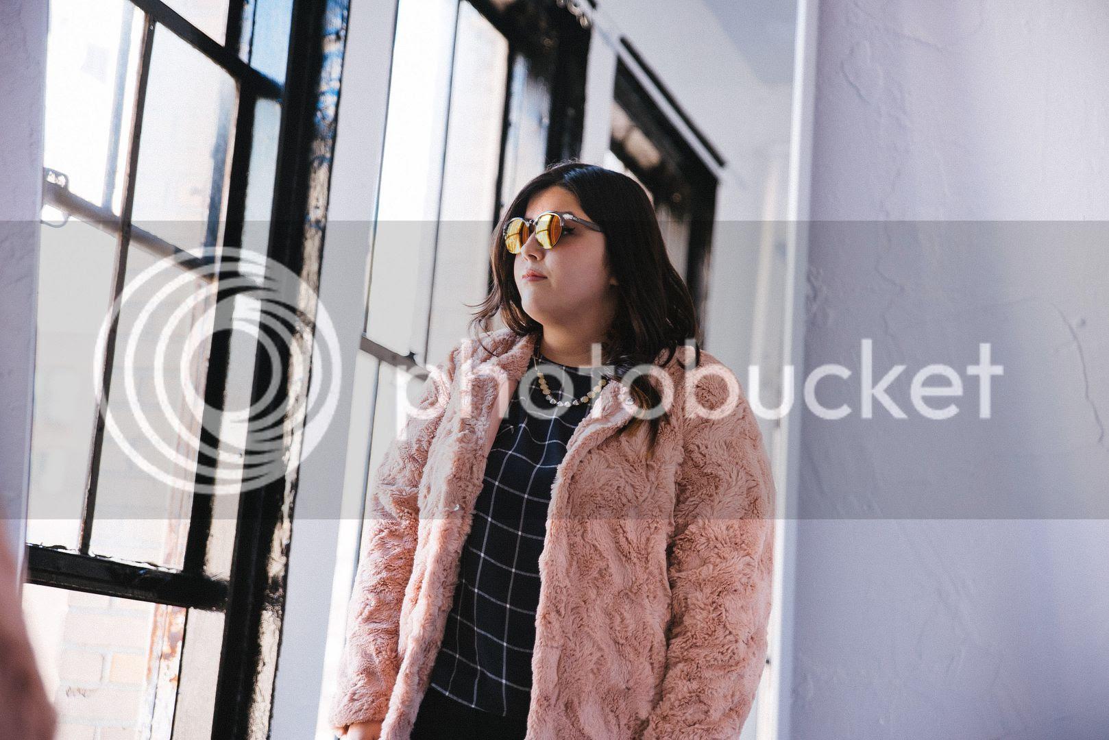 Hey Gorgeous NY Plus Size Fashion Jessica Ip Junarose Carmakoma Faux Fur Coat Adrianna Papell Plus Size Cape Coat