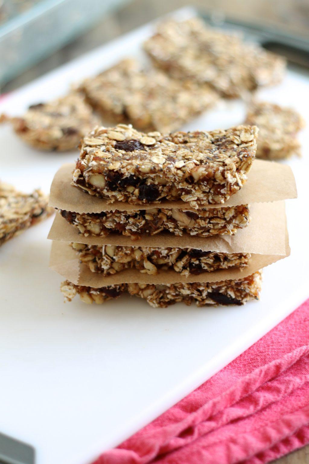 No-Bake Nut and Oat Granola Bars Recipe