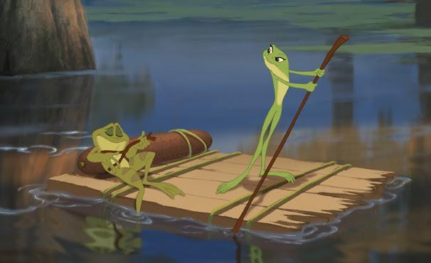 Tiana e Naveen tentam encontrar um jeito de voltarem à forma humana (Foto: Divulgação / Disney Media Distribution)
