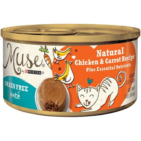 purina muse grain  natural chicken  carrot pate