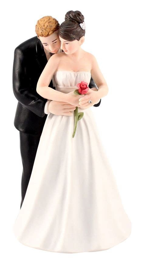 """Yes to the Rose"" Couple Romantic Wedding Cake Topper"