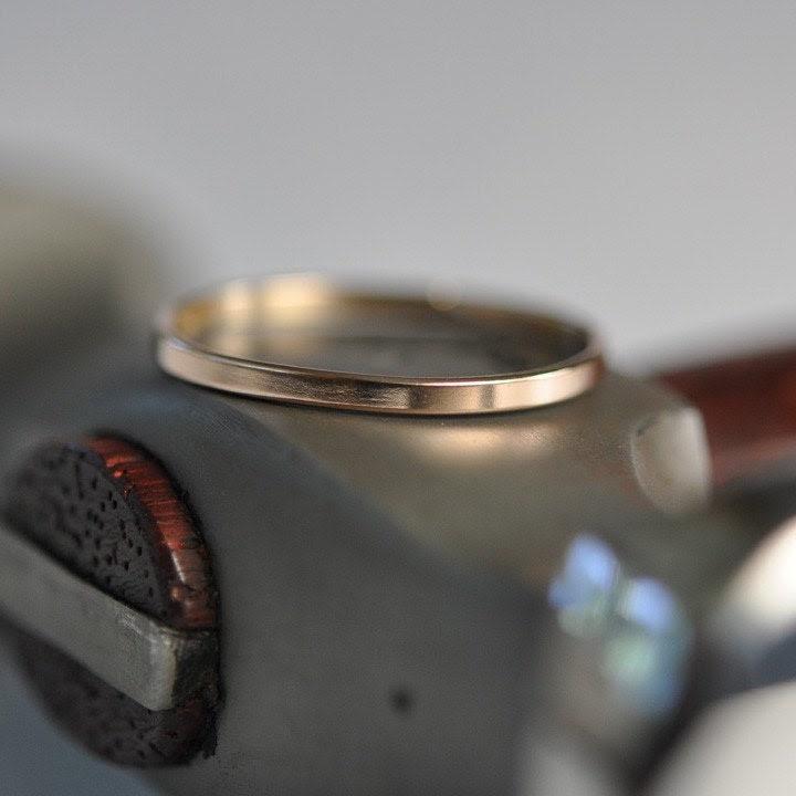 Skinny 14k Rose Gold Ring, size 2-8