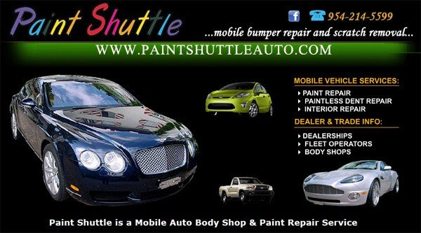 Auto Dent Repairs & Removing Auto Paint Scratches - Paint Shuttle - Miami, Broward, Palm Beach