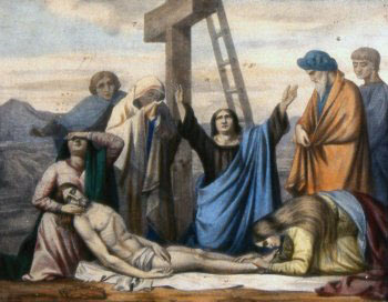 DECIMOTERCERA ESTACIÓN Jesús es bajado de la cruz y entregado a su Madre