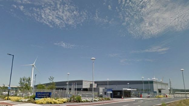Rolls Royce factory at the Advanced Manufacturing Park