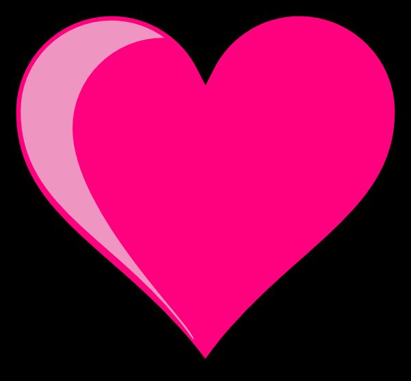 pink heart hi
