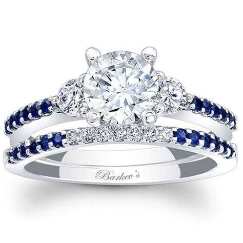Barkev's Blue Sapphire Diamond Engagement Set