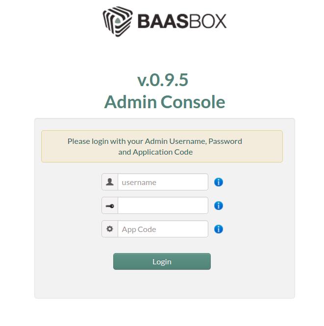 BaasBox Admin Console