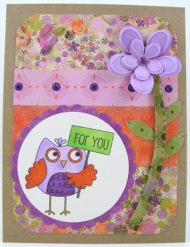 For You Owl Card