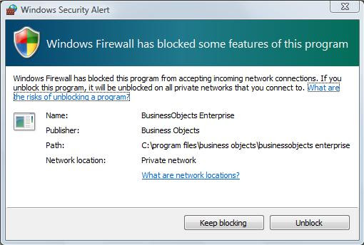 Unblock Firewall