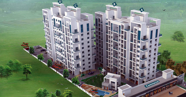 Layout of Ram India Group's Livogue, 1 BHK 1.5 BHK 2 BHK Flats - 11 Story 2 Buildings 4 Wings - 4 Flats per Floor -  & Shops at Tupe Nagar, Malwadi - Hadapsar, Pune 411028