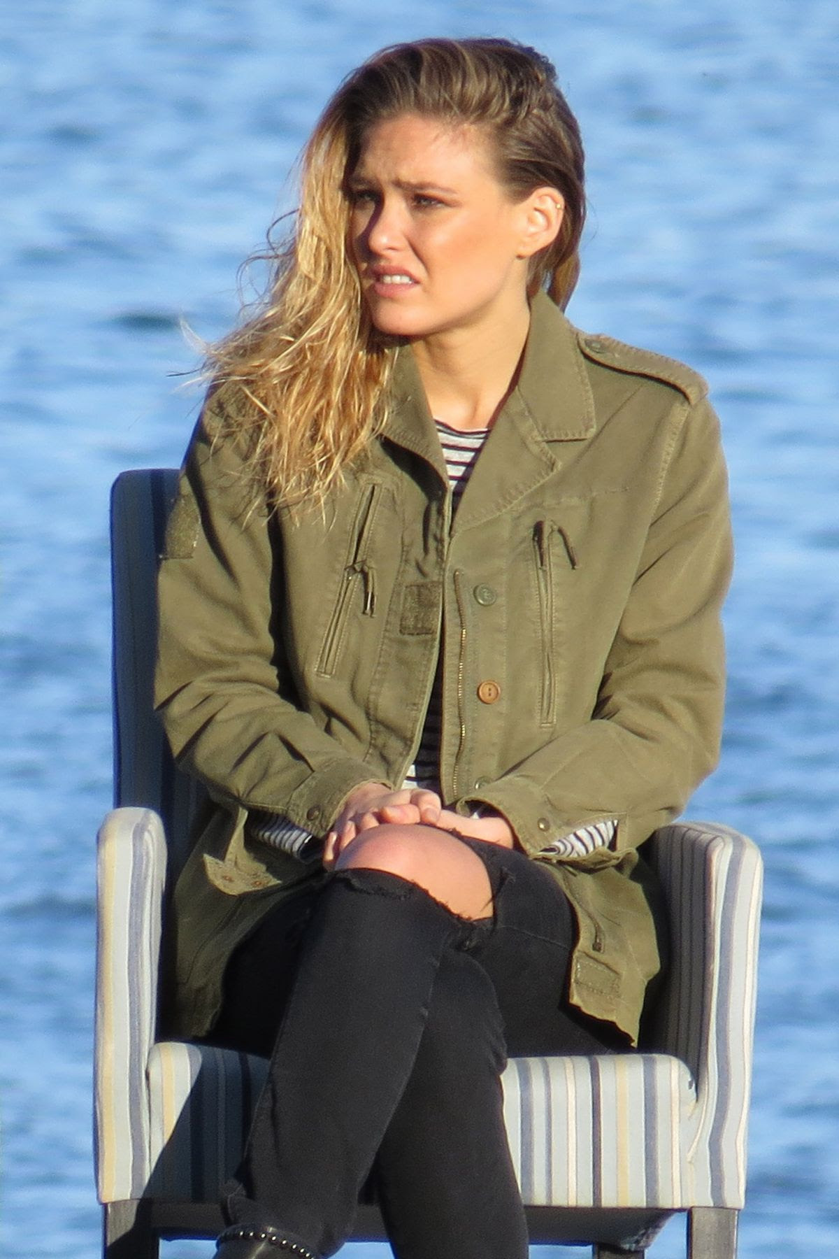 BAR REFAELI ona Set of Photoshoot in Marbella