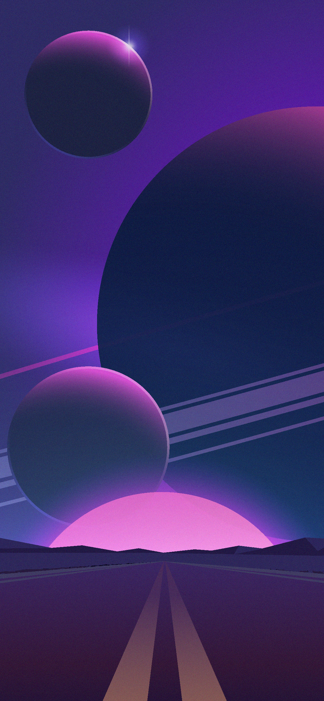 Wallpapers of purple planets