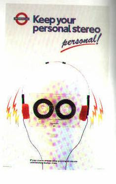 London Underground Poster - Personal Stereo