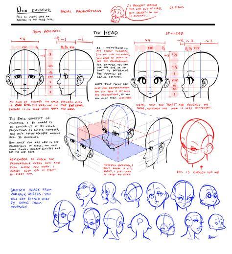 nsio explains facial proportions  nsio  deviantart