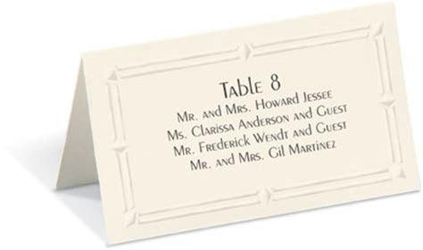 What Is Proper Wedding Place Cards Etiquette
