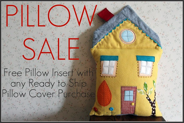 Yellow House Pillow