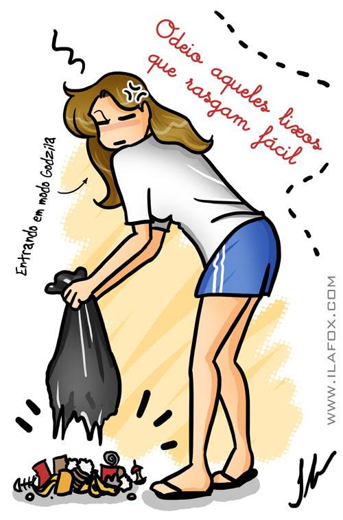 ilustração eu odeio lixo rasgando by ila fox