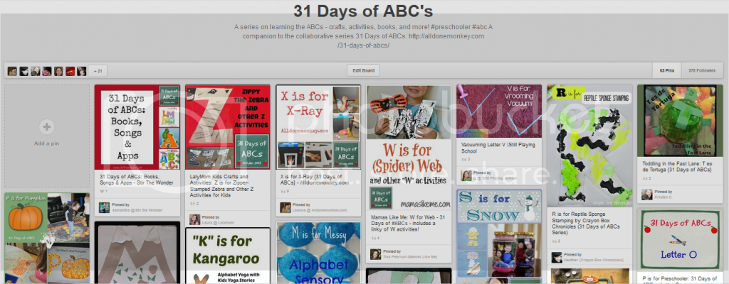http://www.pinterest.com/alldonemonkey/31-days-of-abcs/