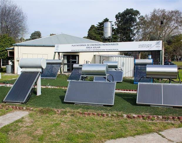 El área de prueba de la tecnología solar en la localidad de San Martín