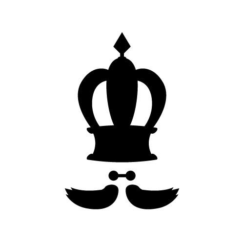 髭の入った王冠クラウンのイラスト 無料商用可能王冠