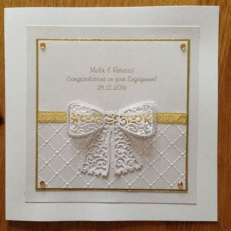 Tattered Lace Engagement card   Tattered Lace Cards And
