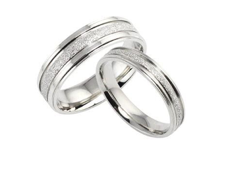 His and Hers Matching Set Titanium Steel Wedding Bands