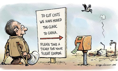 Image result for free health care cartoon