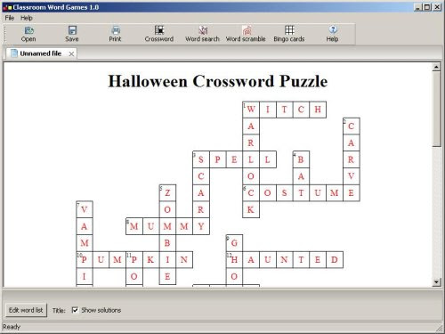 Classroom Word Games - Crossword Puzzle Maker, Word Search Maker,