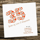 Handmade Card   Wedding Anniversary 35th Coral