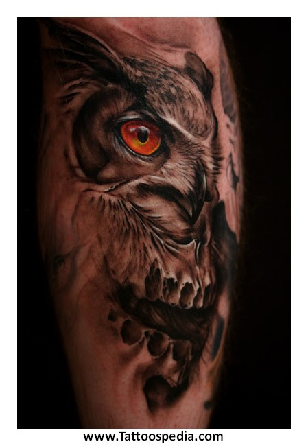 Owl Tattoo With Skull Meaning 3