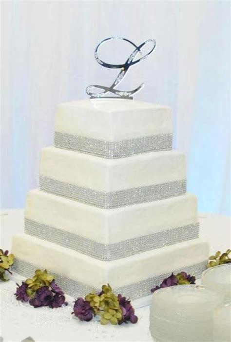 Wedding Cake Ideas. 4 Tier Square Wedding Cake with