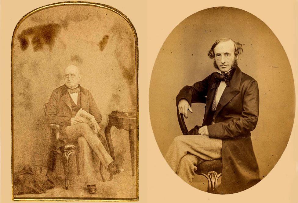 Bank of England governrs - salt paper print of William Cotton, 1842-1845 - print of George Lyall, 1871-1873