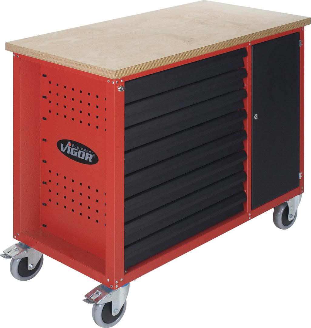 VIGOR 800 Werkbank mit 8 Schubladen, leer V1705