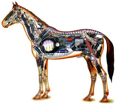 schematic robot mechanical horse