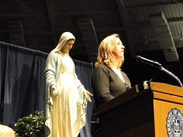 Marija speaks at Notre Dame