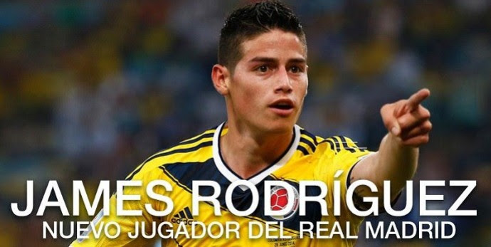 Anúncio James Rodríguez Real Madrid (Foto: Reprodução/Site oficial do Real Madrid)