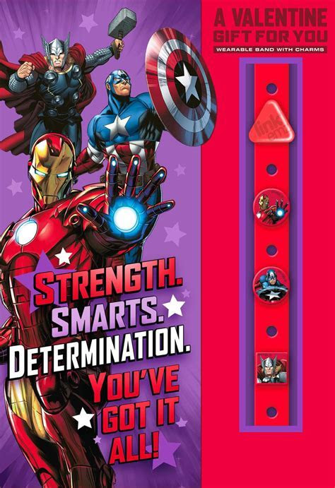 Marvel Avengers Valentine's Day Card With Link'emz