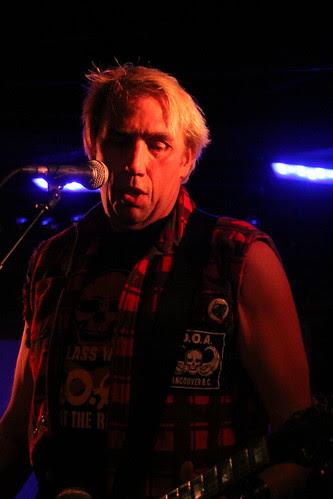 Joe Shithead on stage - D.O.A.