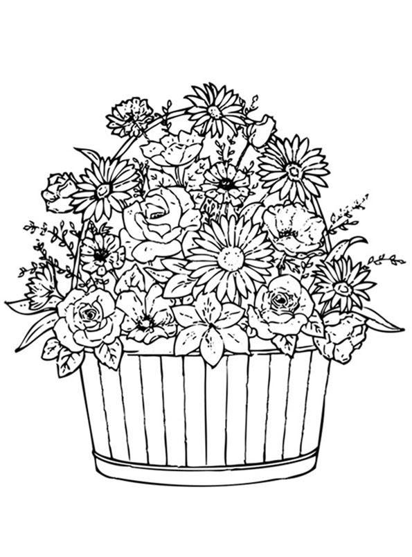 Blumen 6 Ausmalbilder