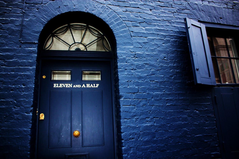 London Travel Photography: Blue Door - Eleven and a Half, London, England - 8x10 Print - PhotoLarks