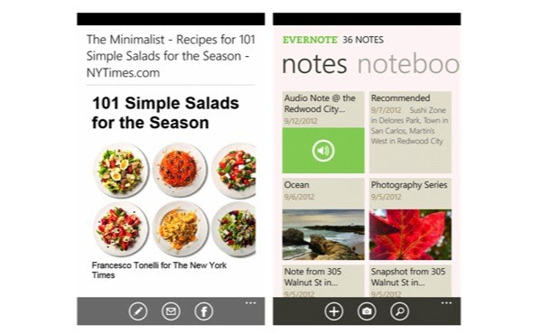 DNP Evernote 25 for Windows Phone brings new layout with improved performance